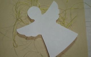 Новогодняя открытка с ангелом своими руками