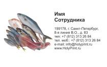 Макет визитки замороженная рыбка