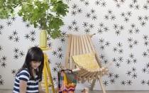 Простой мастер класс как своими руками декорировать стены в детской комнате + шаблон рисунка