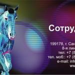 Бесплатный макет визитки с цифровой лошадью