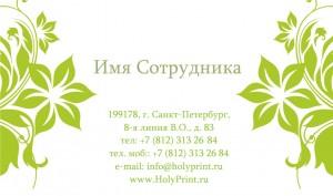 """Бесплатный макет визитки """"Здоровье и Красота"""""""