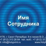 Макет визитки с синими кругами информации