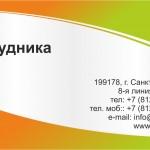Макет визитки «Развлечение»