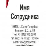 Макет визитки для театра