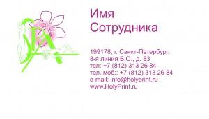 Макет визитки для сотрудников СПА-салонов