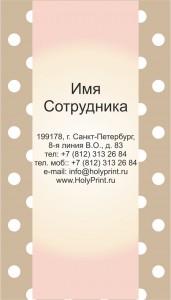 Макет визитки для магазинов света