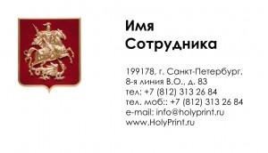 Бесплатный шаблон Визитки «Государство»