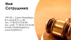 Бесплатный шаблон визитки для судей