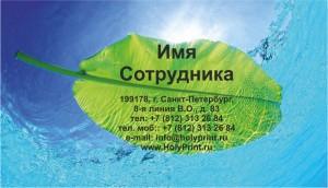 Макет визитки производство и продажа минеральной воды