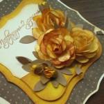 Розочка для украшения открытки своими руками
