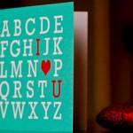 Открытка своими руками на день Святого Валентина в рамке