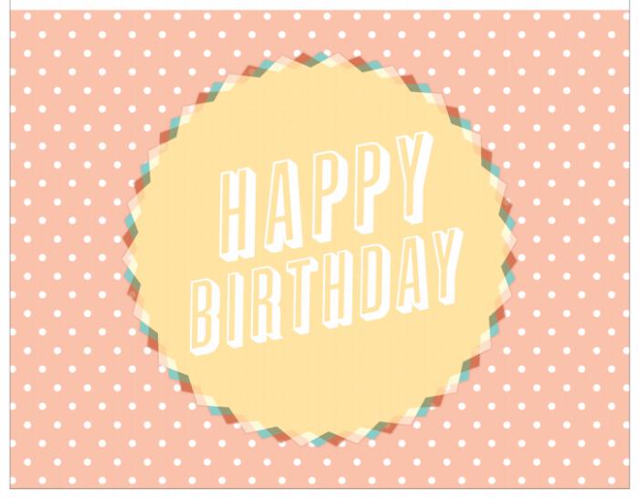 Шаблоны открытка с днем рождения фото 42