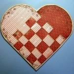 Валентинка шахматное сердце своими руками
