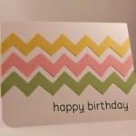 Простая открытка с зигзагами  на день рождение своими руками