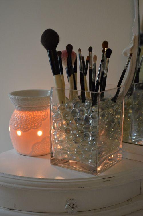 Как сделать подставку для кисточек для макияжа