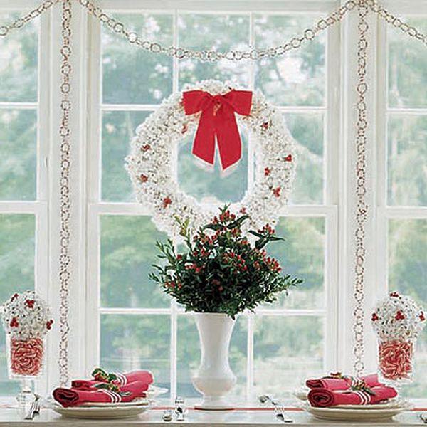 Новогоднее окно своими руками фото