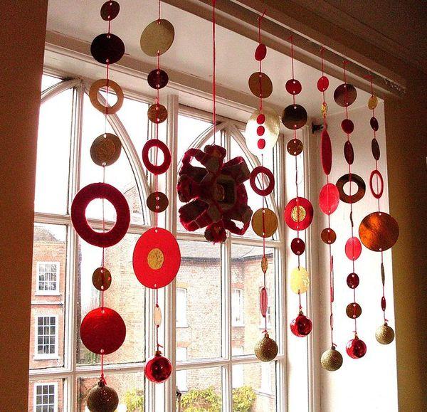 Гирлянды на окна к новому году своими