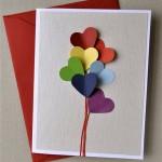 Валентинка своими руками с воздушными шариками в виде сердец