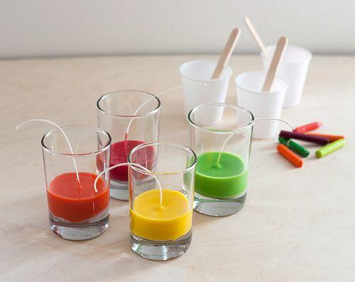 Как сделать свечу из мелков