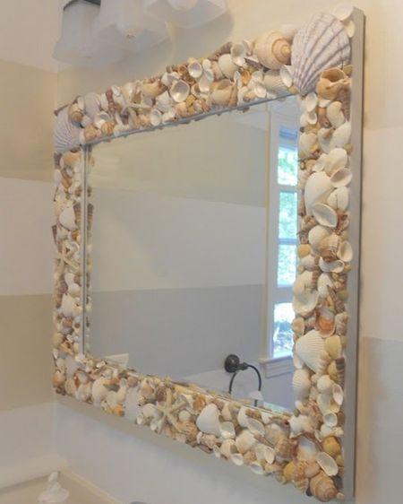 Рама для зеркала из морских ракушек своими руками