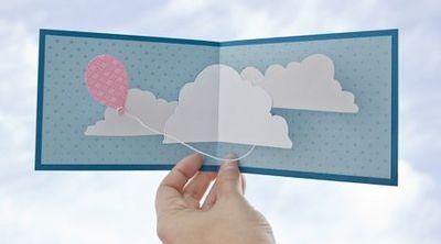 Простой способ сделать объемную открытку своими руками.