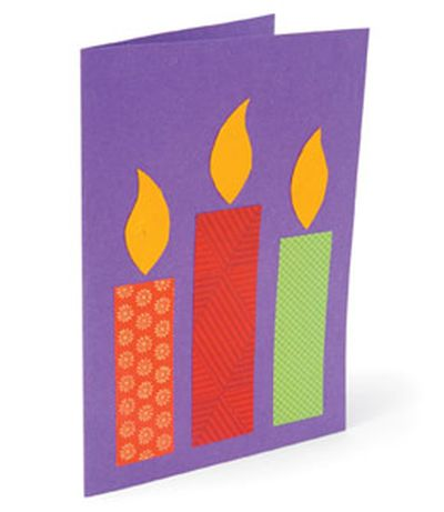 самая простая открытка со свечами