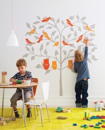 Декоративное дерево на стену с птицами своими руками + шаблоны для печати.
