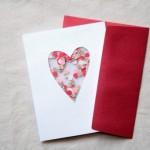 Простой мастер-класс открытки своими руками с сердечком, украшенная конфетти.