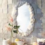 Простой способ декорировать зеркало морскими ракушками своими руками