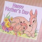 Готовый шаблон для печати открытки-раскраски своими руками на День мамы