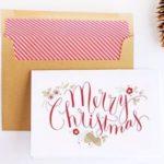 Простая открытка с Рождеством своими руками + шаблон для печати