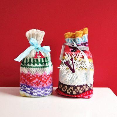 Как сделать подарочную упаковку из старого свитера своими руками