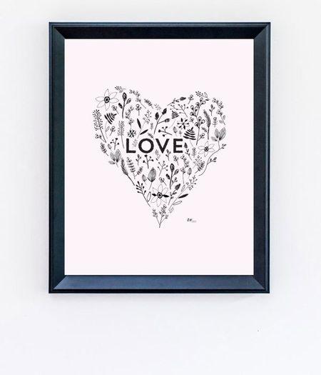 Картина своими руками ко Дню святого Валентина + шаблон для печати