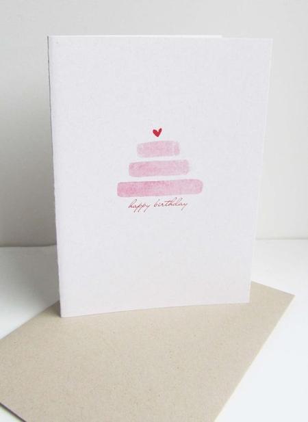 открытка с маленьким сердечком