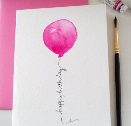открытка с шариком