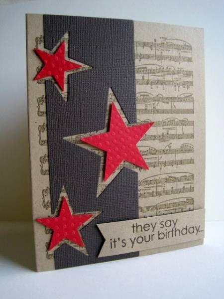 открытка с звездочками