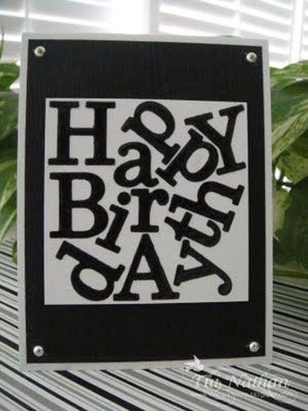 открытка с разбросанными буквами
