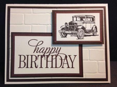 открытка с изображением автомобиля