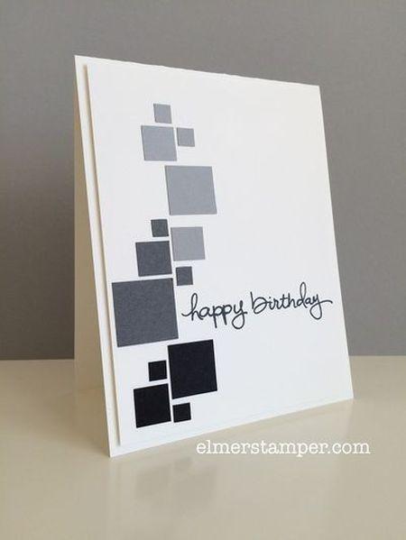 открытка с темными квадратами