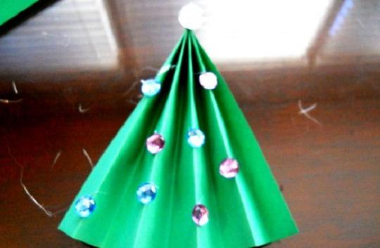 рождественская открытка - этапы изготовления 5