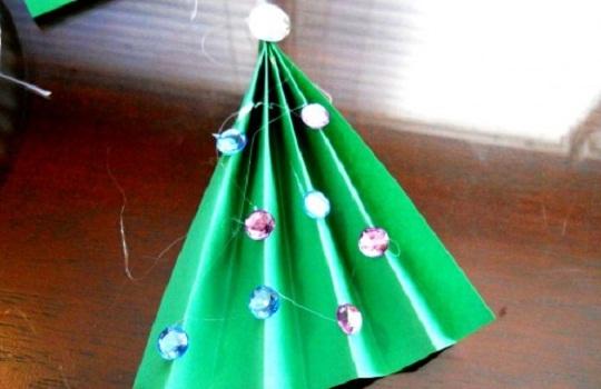 рождественская открытка - этапы изготовления 6