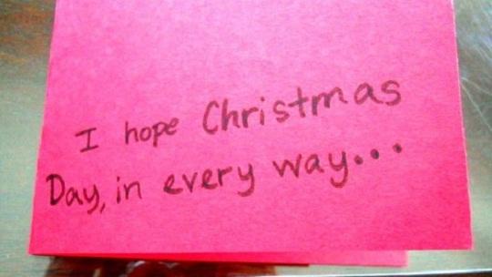 рождественская открытка - этапы изготовления 8