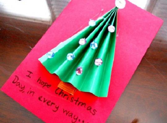 рождественская открытка - этапы изготовления 9