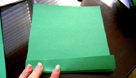 рождественская открытка - этапы изготовления 2