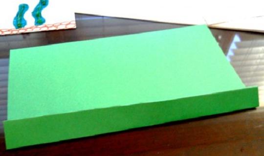 рождественская открытка - этапы изготовления 3