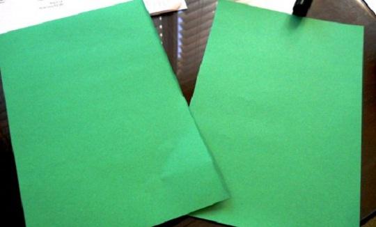 рождественская открытка - этапы изготовления 1