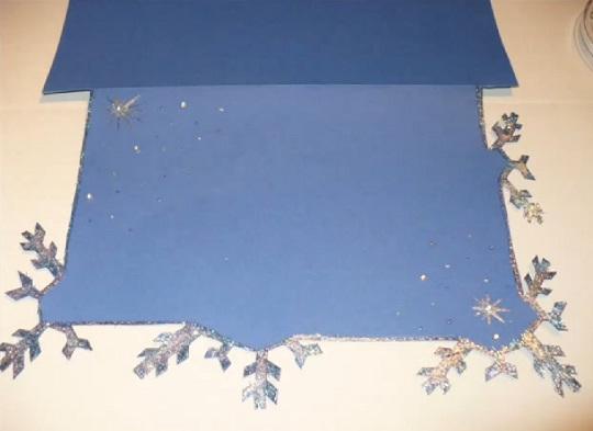 украшаем внутреннюю часть рождественской открытки