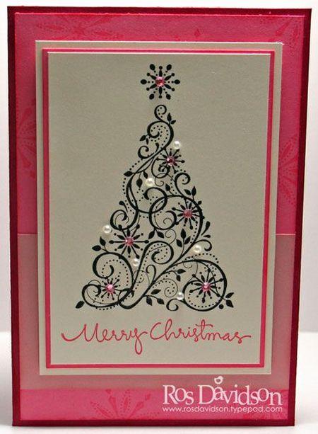 новогодние открытки светлые и ажурные