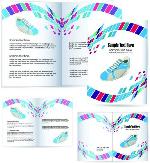Шаблон рекламной брошюры для магазина спортивной обуви
