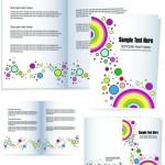 Макет брошюры с яркими кругами